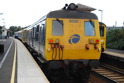 10 September 2010 at Carrickfergus, after a very spirited non stop run from Belfast Central (replacing a failed 450).