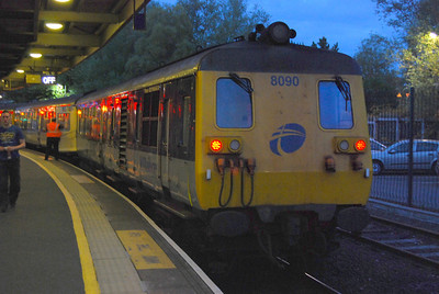 My last trip on a Class 80, which replaced a failed 450 - non-stop to Carrickfergus and then to Larne and back. 10 September 2010.