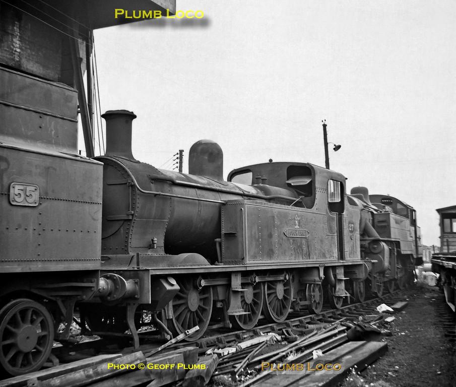 """SLNCR No. 27 """"Lough Erne"""", Belfast York Road MPD, September 1968"""