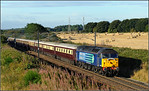 2014 08 30. 47828/47805 on the Darlington-Dundee 'Northern Belle'charter at Warkworth.