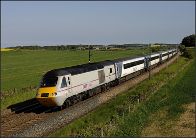 2013 06 09 43307 14.00 Kings Cross-Edinburgh ECML.service passing Whinny Hill.