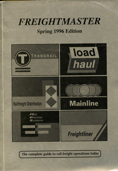 Here's the cover to the Spring 1996 edition. I would thoroughly recommend anyone with an interest in railfreight in this country to either subscribe to the on-line service or, at the very least, buy the occasional book. Of course the fact a train is listed in Freightmaster doesn't mean it'll run (who said the railways were that predictable) and its perfectly possible to be surprised by something NOT in the timetable. But by and large Freightmaster is an invaluable resource, realigning the odds in the enthusiasts favour!