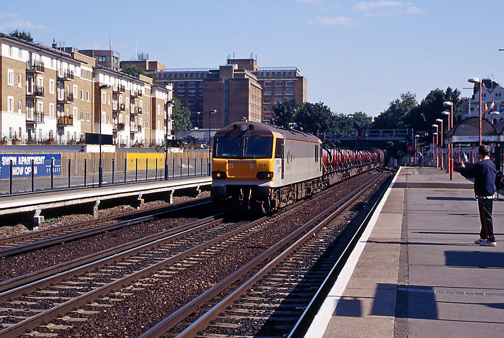 On Saturday 21st August 92018 is passing Olympia on the afternoon Connectrail service, the 6B32 from Dollands Moor to Wembley