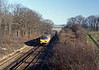 Here's the same train passing Snarkhurst Wood, between Hollingbourne and Bearstead.