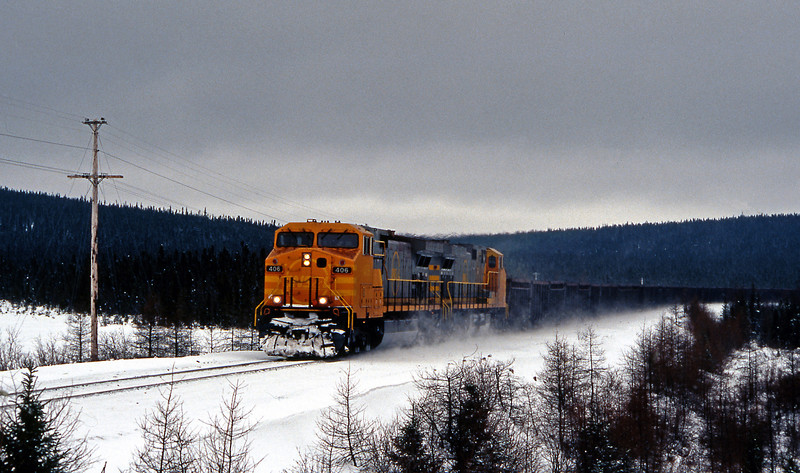 A loaded train passing km 22 crossing