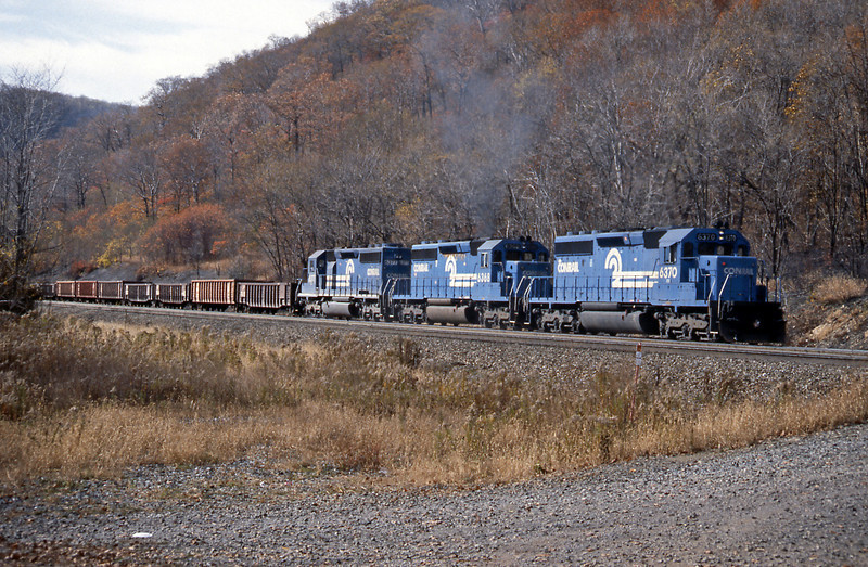 Three SD40-2s were applying a bit more power at the rear
