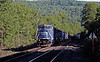 Day 2 saw me on Washington Hill, the B&A grade over the Berkshire Hills in western Massachusetts. GE C40-8W 6123 leads a manifest east on the double track section over the summit.