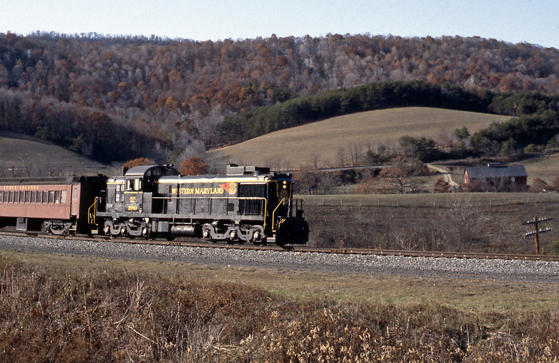 At it was the leaf fall season the WMSR was operating the week I was in Cumberland, but only a single car (ex Lackawanna MU car) train. But the loco was a bit of a treat, an Alco RSD 5. Now the WM never operated an RSD5, this was acquired by the WMSR from the Chicago North Western.