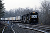 Day 3 dawned dull but with the promise of better later. I headed south east of Louisville, eventually reaching the Southern's famed CNO&TP mainline south of Kings Mountain, Ky. the first train I saw was this northbound TOFC behind GP60 7136