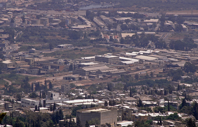 Israel Railway's Quishon Works in Haifa, taken from Mount Carmel