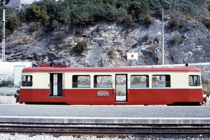 Railcar 503, on Bastia suburban duties, was built by Billard of Tours in 1940.