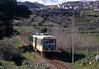 Just east of Macomer we caught, firstly, a Nuoro bound railcar...