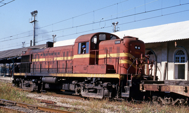 """It was already over 30 years old back in 1986. Although a standard Alco design it rode on broad gauge (5'3"""") trucks."""