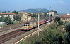 Another semi-fast to Roma at Citta del Pieve, where trains stopping at Chiusi rejoin the Direttissima (on the left)