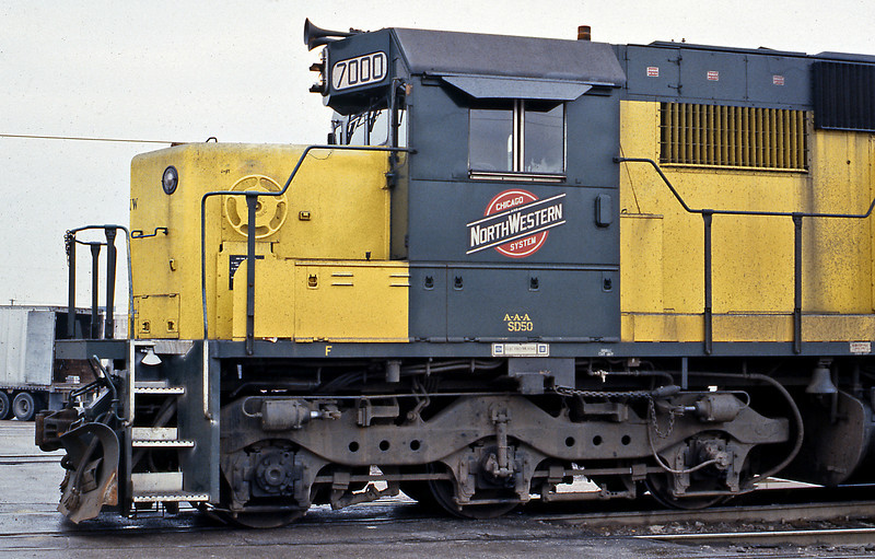 I think the profile of these second generation EMDs is pretty timeless. SD50 7000 is preparing to head west from Proviso Yard.