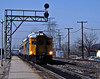 April 10th. Four RDCs (a mixture of ex-CN and ex-CP units) form train 682 from Sarnia arriving at Burlington West