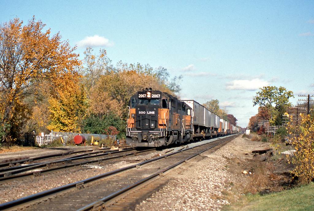 2067 was a 20 year old GP40 built new for the Milwaukee Road.