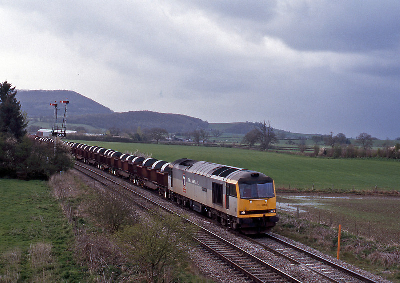 Behind the 158 60058 on the 05:50 Margam to Dee Marsh. A shower was about to engulf me.
