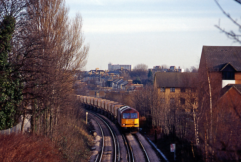 On 10th January the 10:19 Angerstein to Bardon Hill approaching Nunhead from the direction of Lewisham.