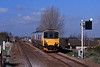 5th April at Whittlesey, a Railtrack test class 150 heading east across the level crossing. The infrastructure is little changed 13 years later.