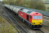 60017 with 6D50 Lindsey to Neville Hill tanks at Hatfield & Stainforth on 7th November 2012