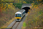 Chiltern 165 001 is working the 11:30 train from Bicester Town to Oxford and has just emerged from Wolvercote Tunnel to the north of Oxford at 11:48 on Wednesday 14th November 2012. Digital Image No. GMPI12886.