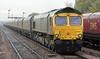 66740 still in Freightliner green at Barnetby on 6th November 2012