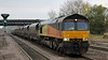 66848 with 6D86 Wolsingham to Scunthorpe coal at Hatfield & Stainforth on 7th November 2012