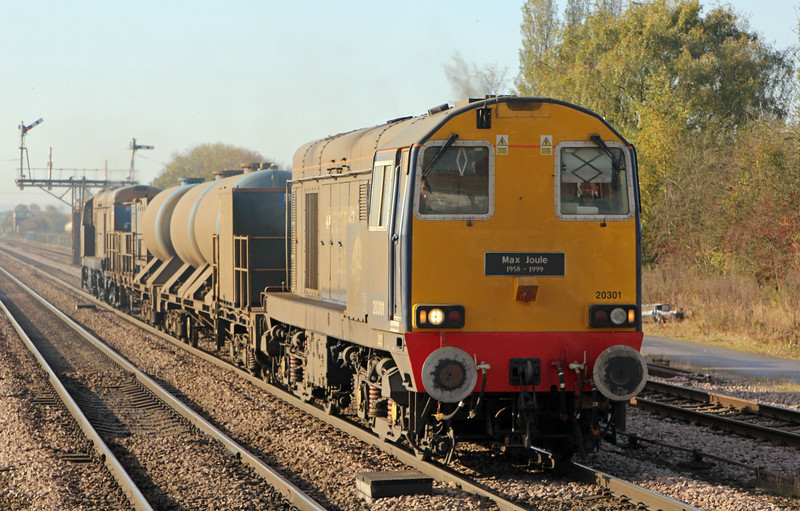 20301 with 20303 on the rear with RHTT at Barnetby on 5th November 2012