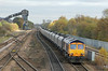66703 with 6C09 Immingham to Eggborough Power Station at Hatfield & Stainforth on 7th November 2012