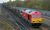 60010 with 6N31 Scunthorpe to Lackenby steel at Hatfield & Stainforth on 7th November 2012