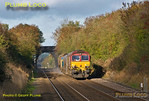 66019 & 66017, Haddenham, 3J04, 3rd November 2013