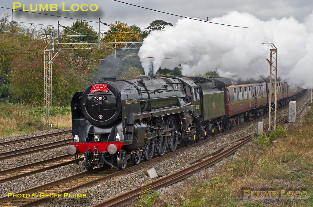 """70013 """"Oliver Cromwell"""", Old Linslade, 1Z82, 2nd November 2013"""