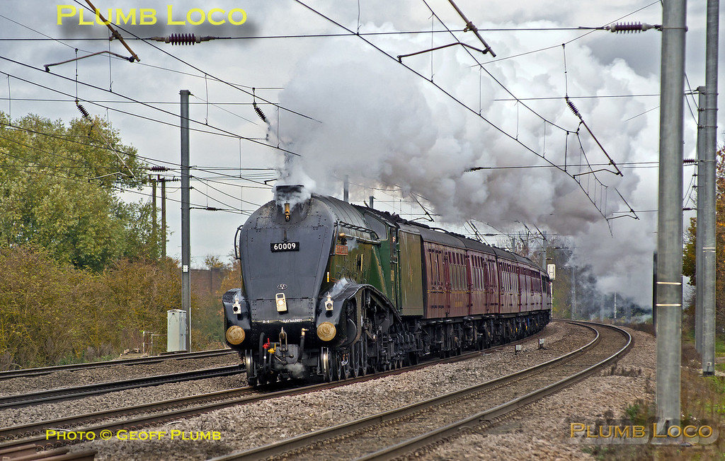 """60009 """"Union of South Africa"""", Arlesey, 1Z60, 23rd November 2013"""