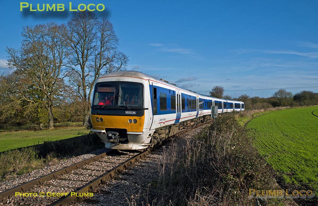 165 036, Horsenden Crossing, 5P18, 10th November 2017