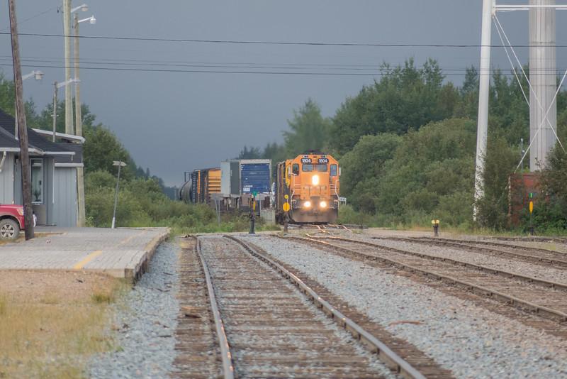 Freight 419 coming into Moosonee.