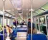 """OTOL Festers board the monorail, blissfully unaware that they are being pointedly snubbed by arrogant woman at left, who was heard to mutter """"Damn foamers!"""" as she turned disdainfully away."""