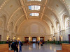 Eric takes a combative stance as he challenges Alan to a fight in the great hall of Seattle's Union Station.