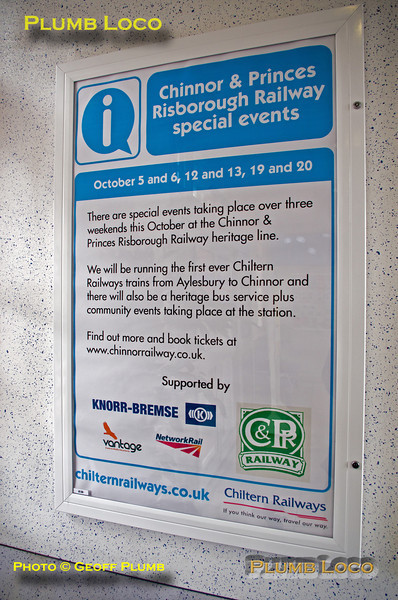 Chinnor Poster, Princes Risborough, 4th October 2013