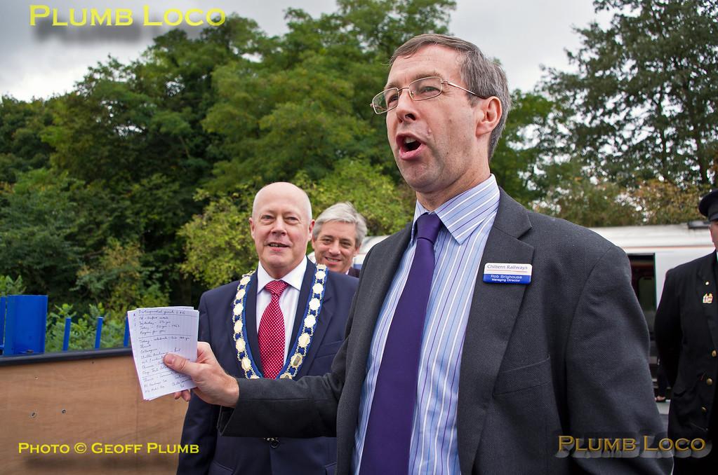 Rob Brighouse, Speech, Princes Risborough, 5th October 2013