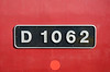 """D 1062 """"Western Courier"""" number plate."""