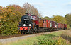 Hughes-Fowler  LMS  Crab 13065 has charge of the freight working during the Mid Hants steam gala 25/10/2015.<br /> Built at Crewe in 1927 and painted in the Crimson lake livery in this image, this the first time I have seen this locomotive.