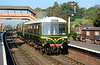 Class 108 DMU  50933+56208 arrive at Bewdley heading for Kidderminster 02/10/2015.<br /> Owned by the DMU group West Midlands, its restoration and upkeep is first class. Full credit to the group.