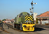 """Class 14 D9531 """"Ernest"""" is seen departing Kidderminster, heading for the depot 02/10/2015."""
