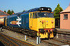 """50049 """"Defiance"""" gleams in the sun at Kidderminster 02/10/2015.<br /> Not far off being started after a lot of hard work to re-install the refurbished main generator, & re-connect the power unit."""
