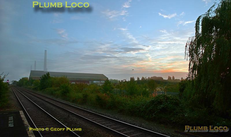 Sunrise, Stewartby Station, 1st October 2016