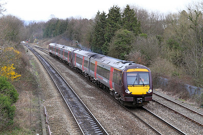 A Cross Country race extra from Birmingham to Gloucester formed of 170519 & 170101 heads past Hatherley Loop.