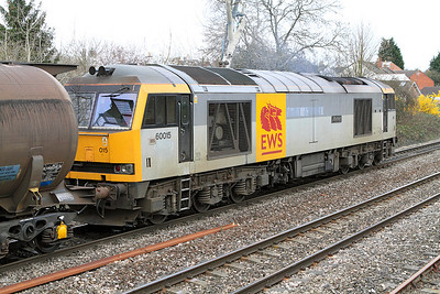 Close up of 60015 'Bow Fell' with it's TransRail sticker still just about visible.