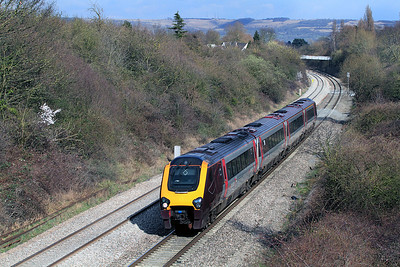 The 10.44 Newcastle to Plymouth passes through the cutting at Reddings.