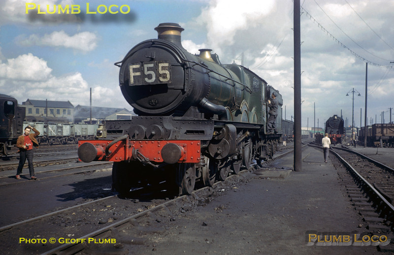 "4075 ""Cardiff Castle"", Old Oak Common MPD, 7th May 1961"
